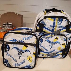 Pottery Barn kids small Batman backpack/lunchbox